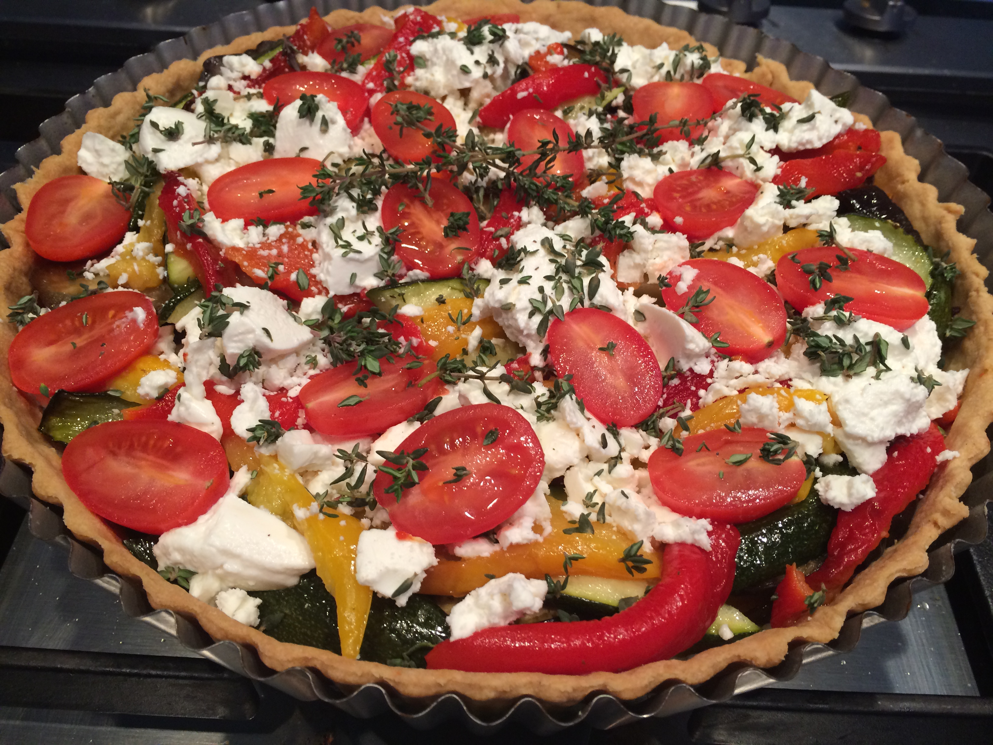Very Full Roasted Vegetable Tart